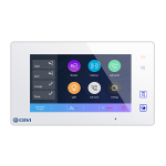 CDVI CDV47-W 2Easy 2 wire 7'' Slave slim touch screen monitor